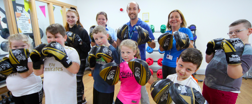 Fit Club facilitators with young people.